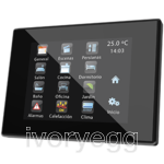 Z41 Pro. Color capacitive touch panel with IP connection. PC-ABS frame - Anthracite