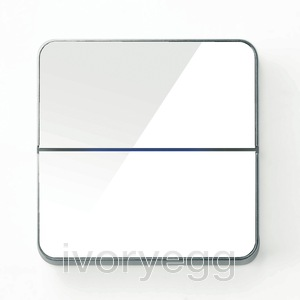 Enzo front - dual - white glass