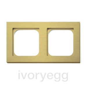 Frame - 2 gang - brushed brass