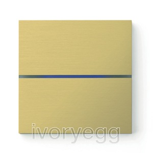 Sentido front - dual - brushed brass