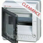 CLEARANCE ITEM - ABB IP65 Wall Mounting 8-Module Unit - Transparent Grey Door