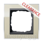 CLEARANCE ITEM - GIRA Cover frame, 1-gang for anthracite Gira Event Clear sand