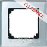 CLEARANCE ITEM - MERTEN M-PLAN real glass frame, 1-gang, diamond
