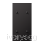 LS 1912 2-gang vertical centre plate with 4 cylinder toggle levers - dark aluminium