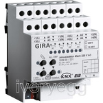 Blind actuator 4-gang, 230 V AC / 12-48 V DC with manual activation KNX