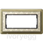 Cover frame 2g w/o cb ClassiX Art bronze+cream white