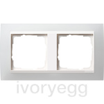 Cover frame, 2-gang for pure white Gira Event Opaque white