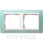 Cover frame, 2-gang for pure white Gira Event Opaque mint