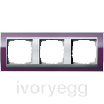 Cover frame, 3-gang frame  Colour Aluminium Gira Event Clear aubergine