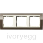 Cover frame, 3-gang for cream white Gira Event Clear Brown