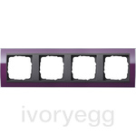 Cover frame, 4-gang for anthracite Gira Event Clear aubergine