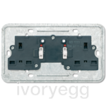 British Standard switched 13A socket insert 2-gang with indicator light