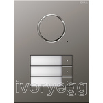 Stainless Steel Audio Door Station - 3 Call Buttons