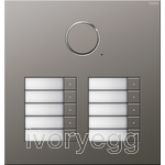 Stainless Steel Audio Door Station - 10 Call Buttons