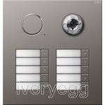Stainless Steel External Door Station -  10 call buttons