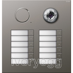 Stainless Steel External Door Station -  12 call buttons