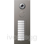 Stainless Steel External Door Station -  9 call buttons