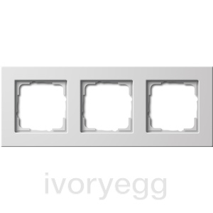 Cover frame 3-gang flat mounting Gira E22 pure white
