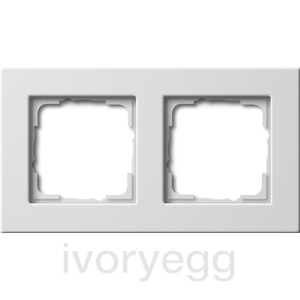 Cover frame 2-gang flat mounting Gira E22 pure white