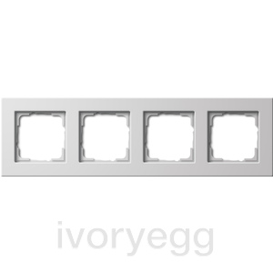 Cover frame 4-gang flat mounting Gira E22 pure white
