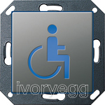 E22 Orientation light LED Wheelchair , Stainless Steel