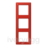 AS 3-gang frame, red