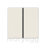 F40 A/AS range Cover kit 1-gang, ivory