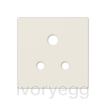 Centre plate for unswitched 5A BS socket, ivory