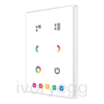 Capacitive push button Touch-MyDesign - 6 Buttons & Thermostat. Aluminium frame - White