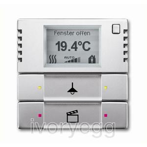 Room Thermostat with Display and control element 2/4-fold, FM