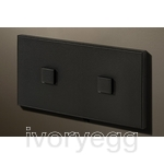 2 Button 2 Gang Select KNX Keypad Matt Black RAL9011 with RGB LED and RTC