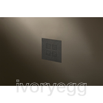 Flush Mounted 4 Button Squares Flush KNX Keypad Textured Black RAL9011 with RGB LED and RTC