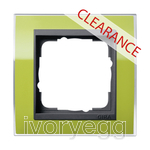CLEARANCE ITEM - GIRA Cover frame, 1-gang for anthracite Gira Event Clear green
