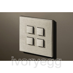 4 Button Select KNX Keypad Stainless Steel with RGB LED and RTC