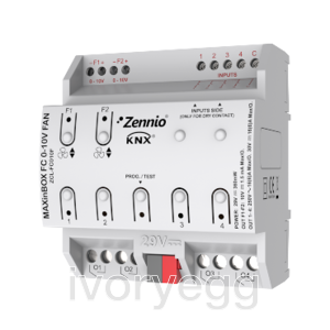 Fan coil controller for up to two 2/4-pipe units with 0-10 VDC fan speed control signal