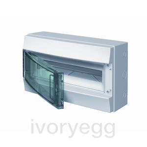 Mistral65 18 Way 1 Row Distribution Board with Transparent Door