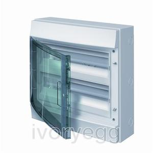 Mistral65 36 Way 2 Row Distribution Board with Transparent Door