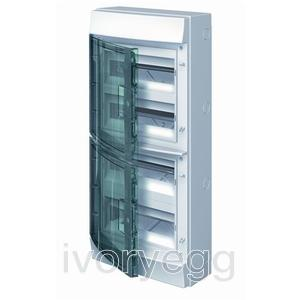Mistral65 48 Way 4 Row Distribution Board with Transparent Door