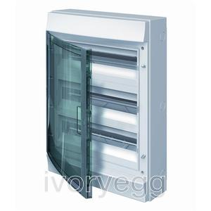 Mistral65 54 Way 3 Row Distribution Board with Transparent Door