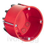 Fire protection one-gang box HWD 68 for fire-protection walls EI30-EI90