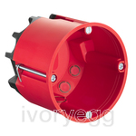 Fire protection one-gang junction box HWD68 for fire-protection walls EI30-EI90