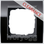 CLEARANCE ITEM - GIRA Cover frame, 1-gang for anthracite Gira Event Clear black