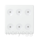 6 Button Keypad in White