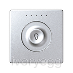 1 Button Keypad in Aluminium with Inscription Style 1
