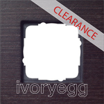 CLEARANCE ITEM - GIRA Cover frame 1-fold Esprit wenge wood