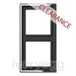 CLEARANCE ITEM - JUNG 2-gang frame