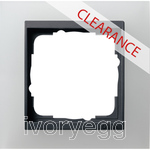 CLEARANCE ITEM - GIRA Cover frame, 1-gang for anthracite Gira Event Opaque white