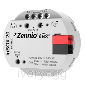 inBOX 20.  KNX multifunction actuator for flush mounting - 2 outputs 16A