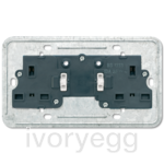 British Standard switched 13A socket insert 2-gang