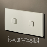 2 Button 2 Gang KNX Keypad Matt White RAL9010 with LED and RTC